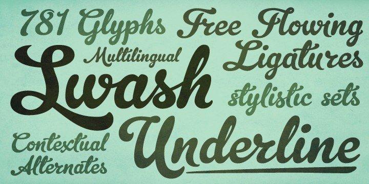 Myfonts: cursive typefaces.