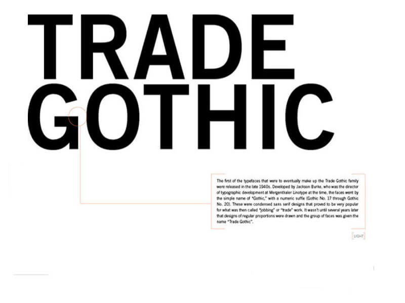 Download Trade Gothic font (typeface)