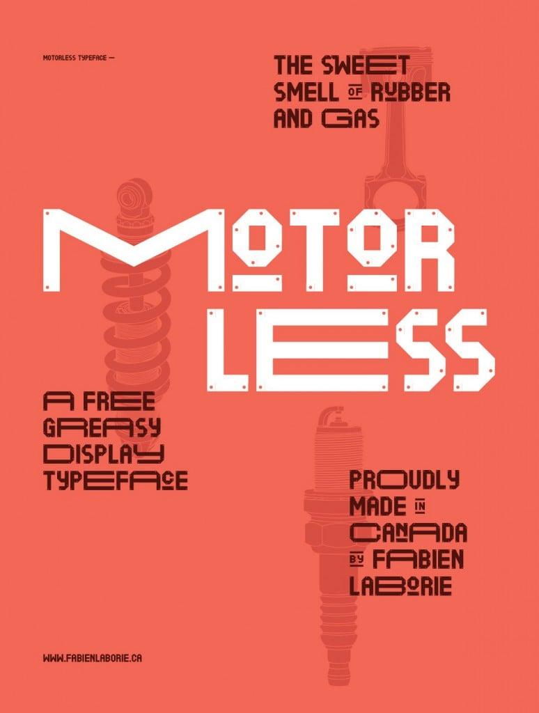 Font Motorless Font Family