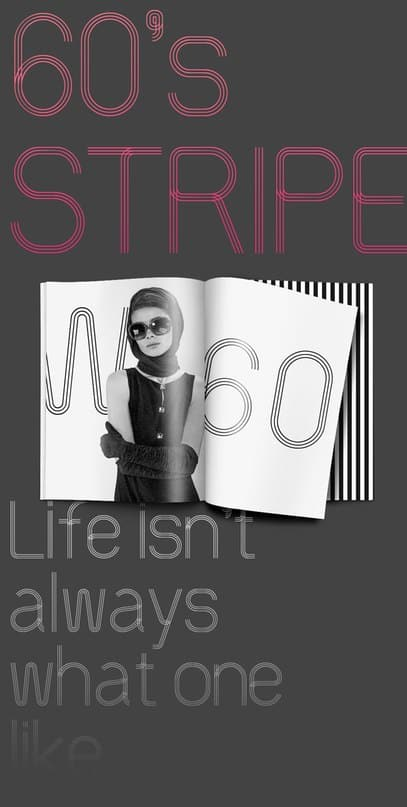 Download 60s Stripe font (typeface)