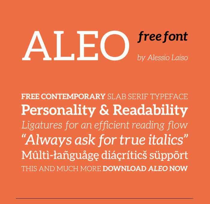 Download Aleo font v1.2.2 font (typeface)