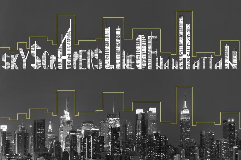 Download Skyscraper font (typeface)