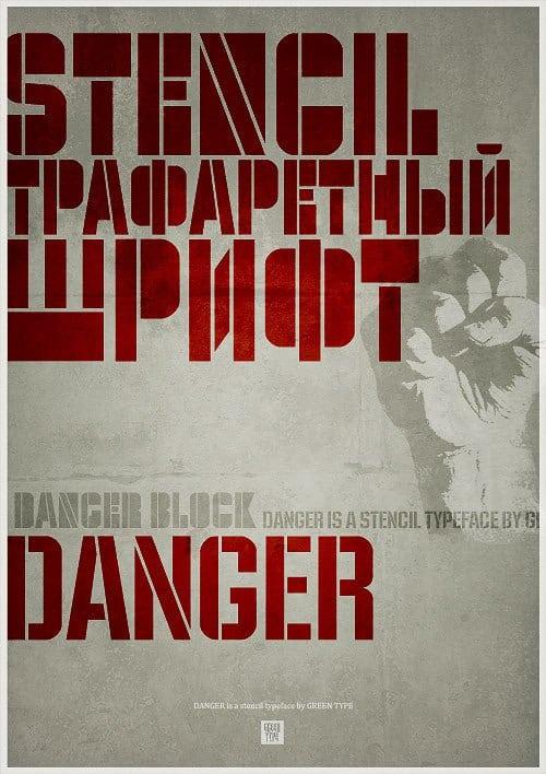 Download Danger font (typeface)
