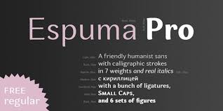 Download Espuma Pro - Regular font (typeface)