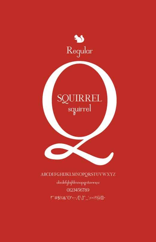Download Squirrel COM font (typeface)