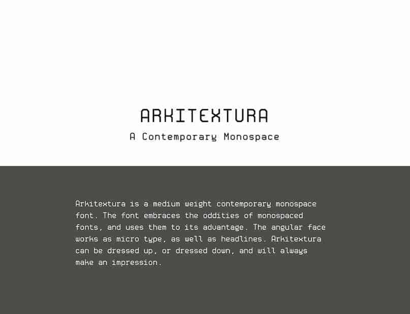 Download Arkitextura font (typeface)