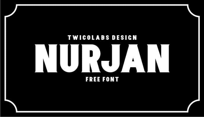 Download Nurjan font (typeface)