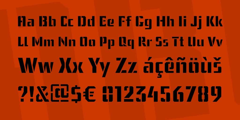 Download ussr stencil font (typeface)
