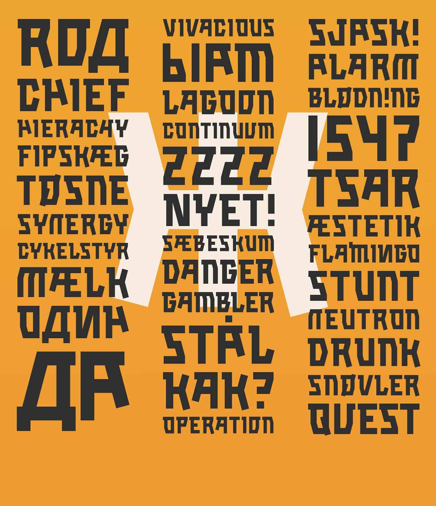 Download Kalashnikov font (typeface)