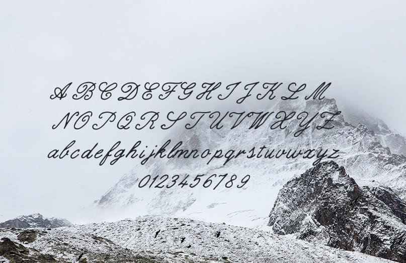 Download Gilded hand script font (typeface)