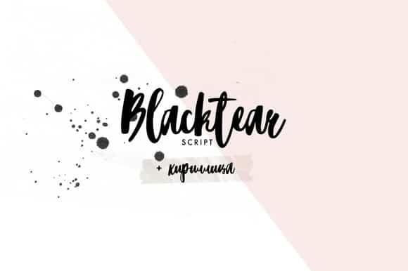 Download Blacktear Script font (typeface)
