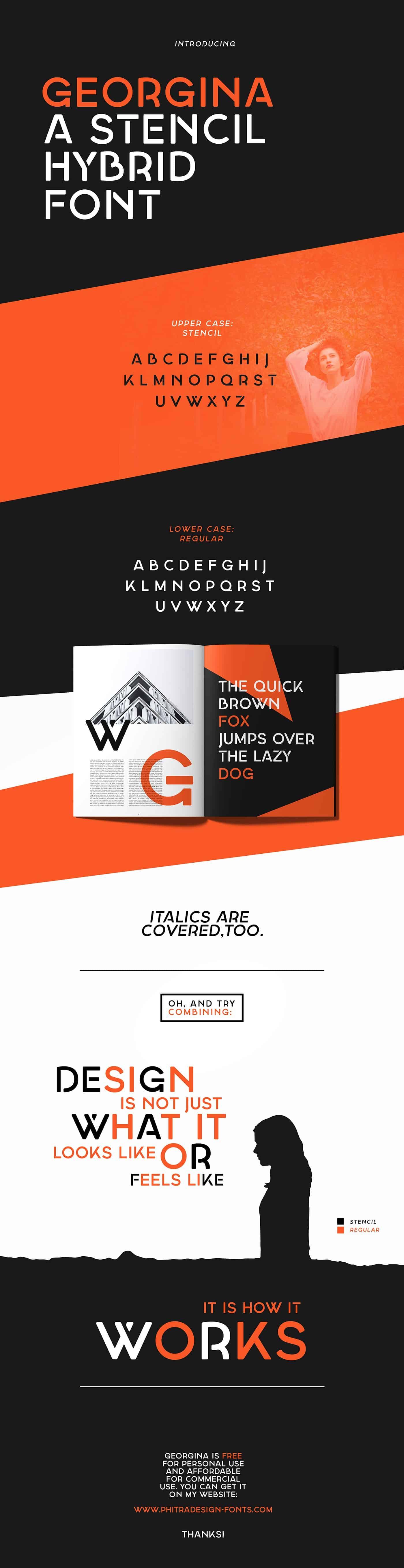 Download Georgina font (typeface)