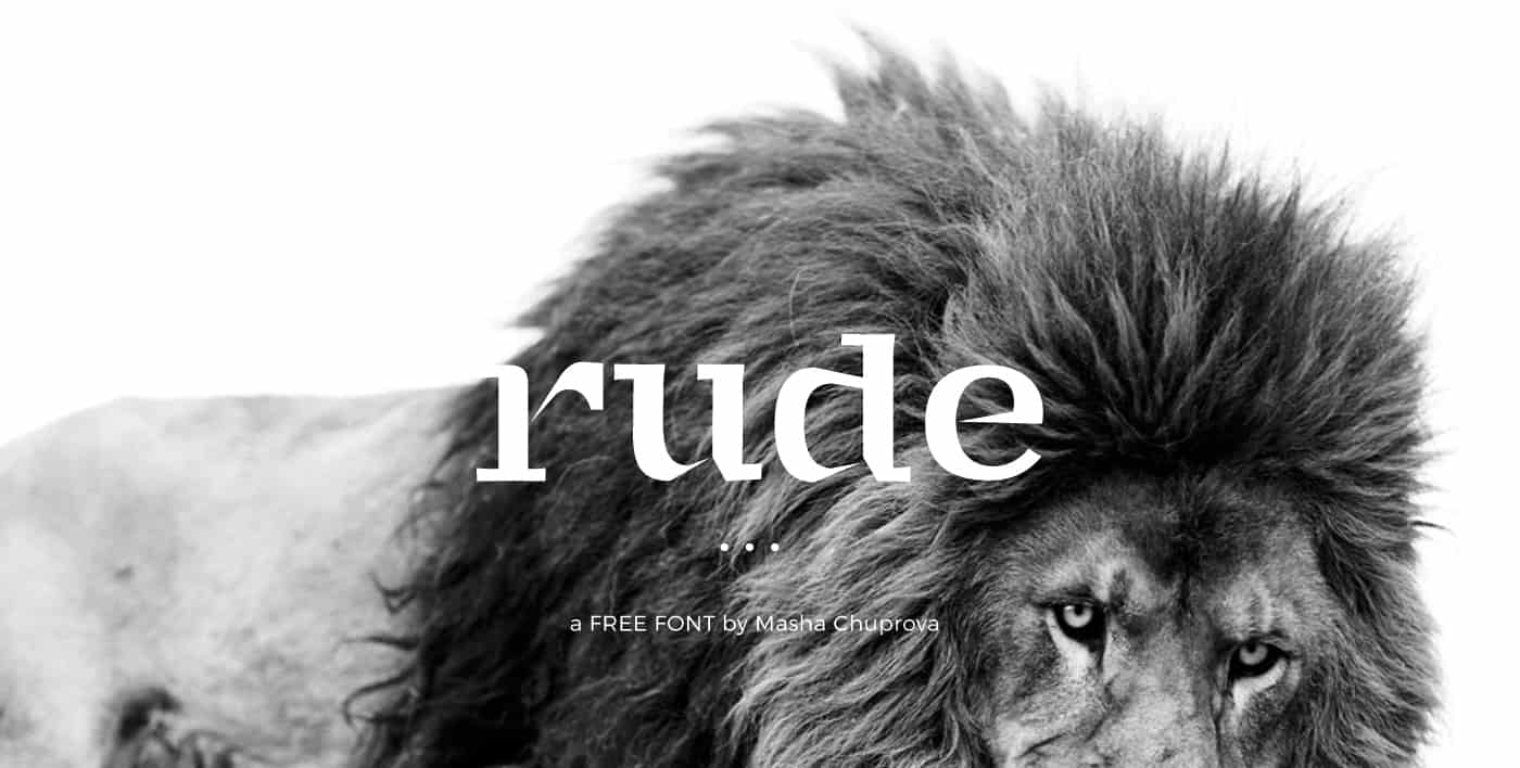 Download Rude font (typeface)