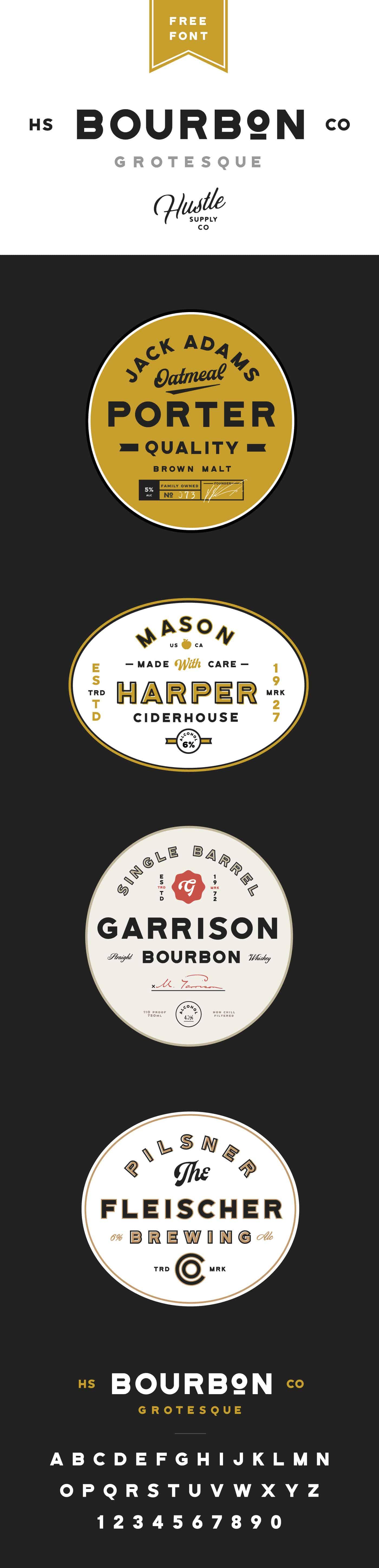 Download Bourbon Grotesque font (typeface)