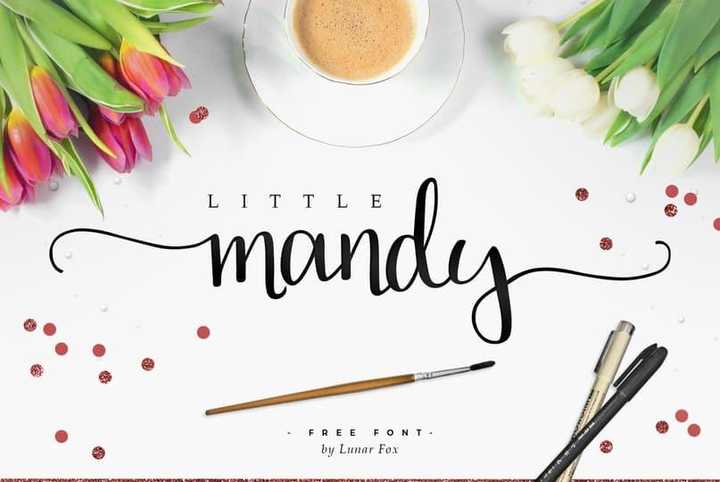 Download Little Mandy - v2 font (typeface)