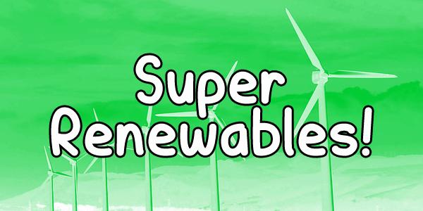 Download Super Renewables font (typeface)