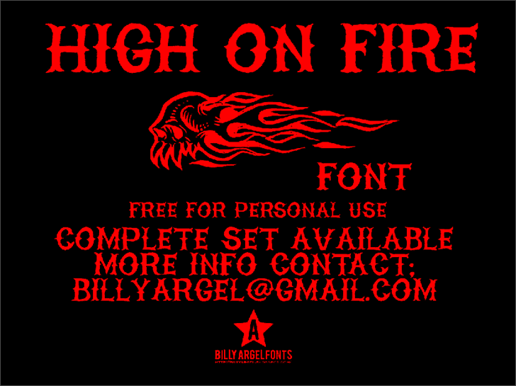 Download HIGH ON FIRE font (typeface)