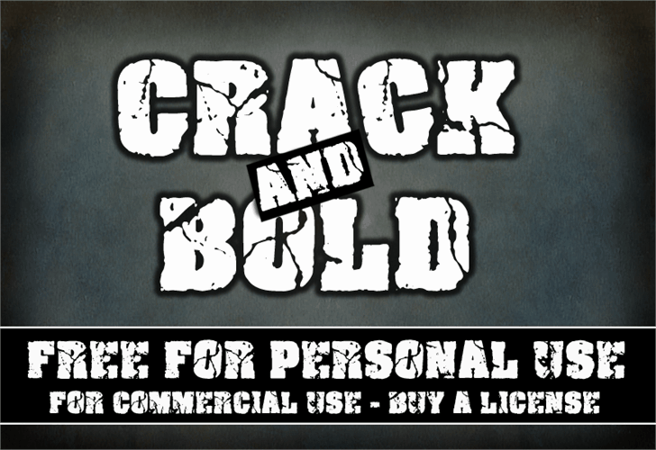Download Crack and Bold font (typeface)
