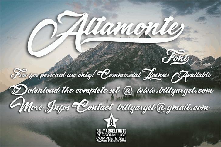 Download Altamonte font (typeface)