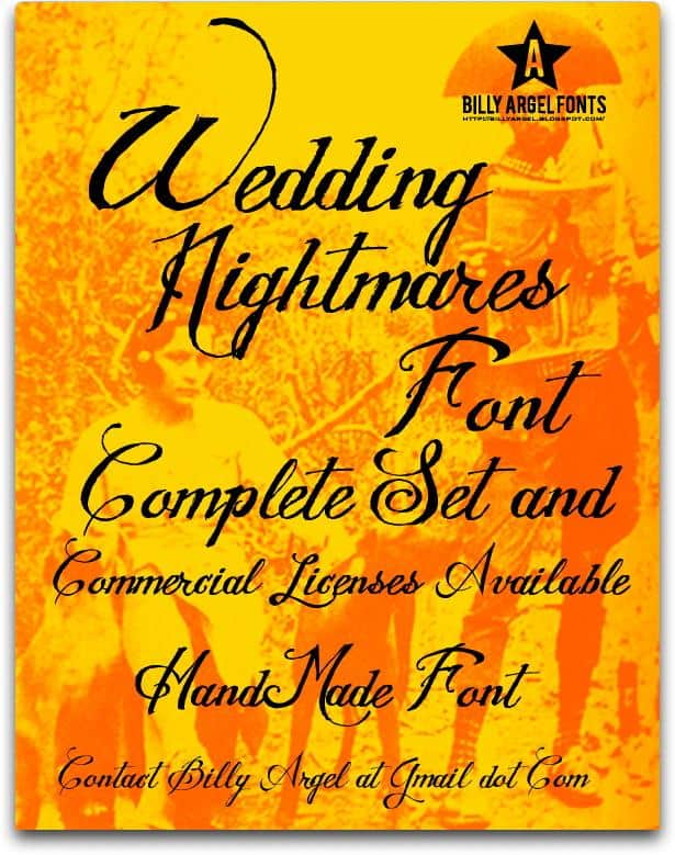 Download WEDDING NIGHTMARES font (typeface)