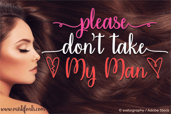 Download Please Dont Take My Man font (typeface)