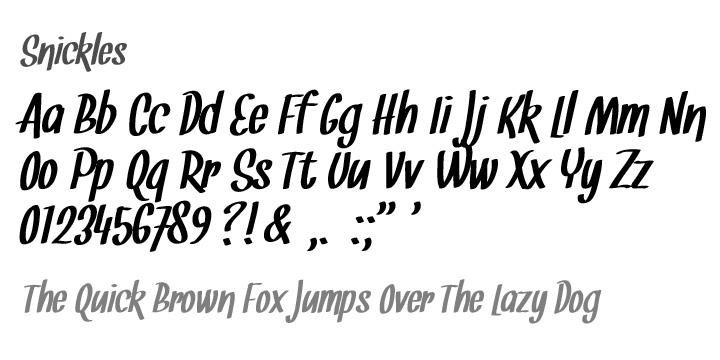 Download Snickles font (typeface)