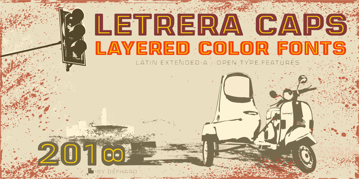 Download Letrera Caps Inline font (typeface)
