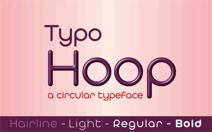 Download Typo Hoop font (typeface)