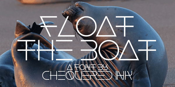 Download Float The Boat font (typeface)