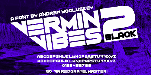 Download Vermin Vibes 2 font (typeface)