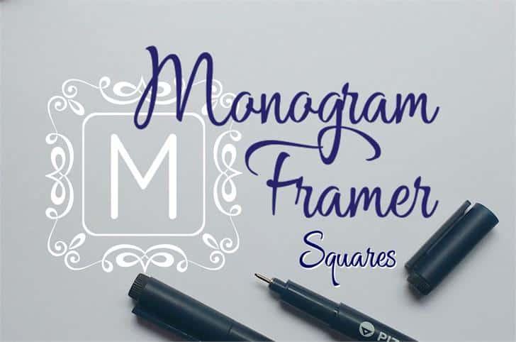 Download Square Monogram Frames font (typeface)