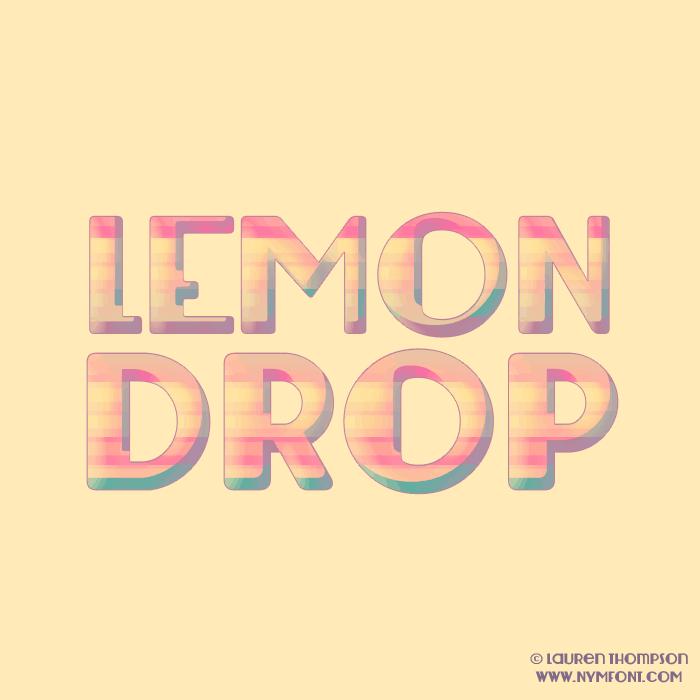 Download Lemondrop font (typeface)