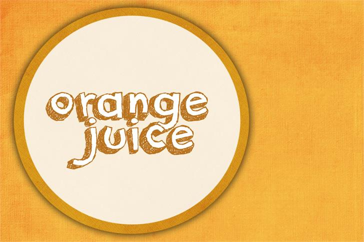 Download Orange Juice font (typeface)