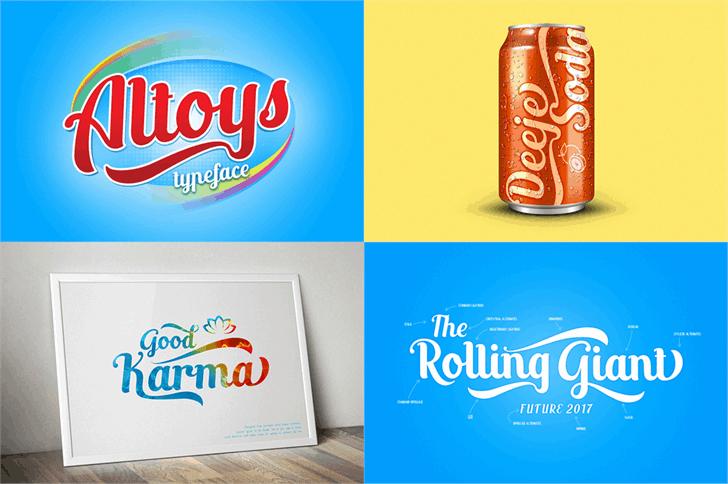 Download Altoys just font (typeface)