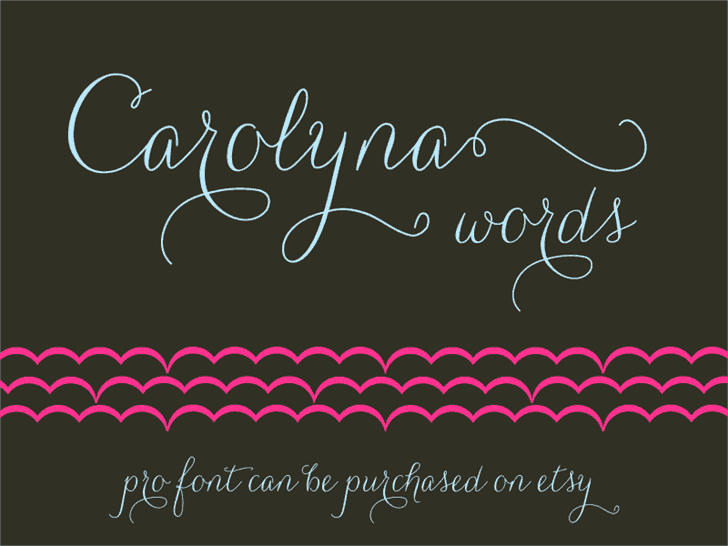 Download Carolyna Words font (typeface)