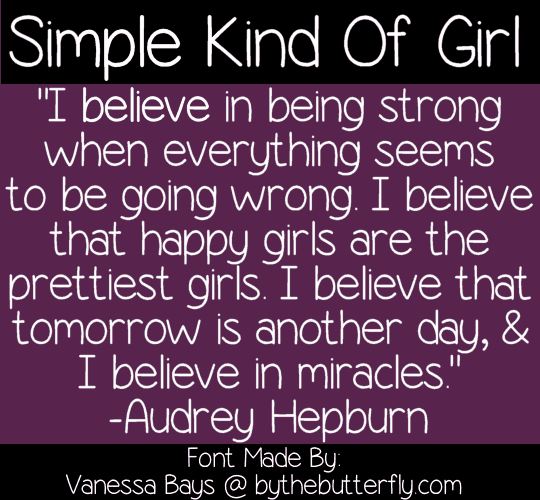 Download Simple Kind Of Girl font (typeface)