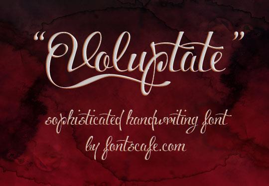 Download Voluptate font (typeface)