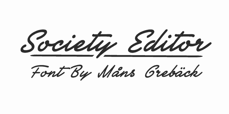 Download Society Editor font (typeface)