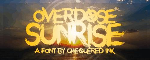 Download Overdose Sunrise font (typeface)