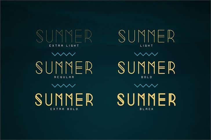 Download Summer Light font (typeface)