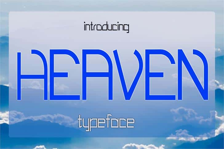 Download Heaven font (typeface)