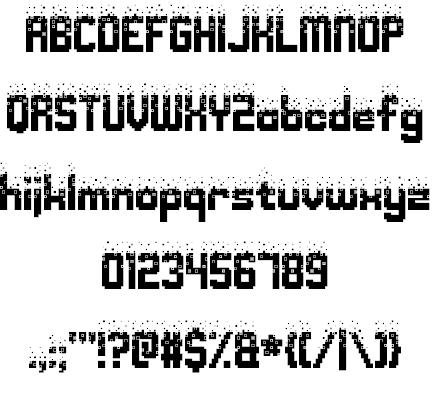 Download Nightmare Codehack font (typeface)