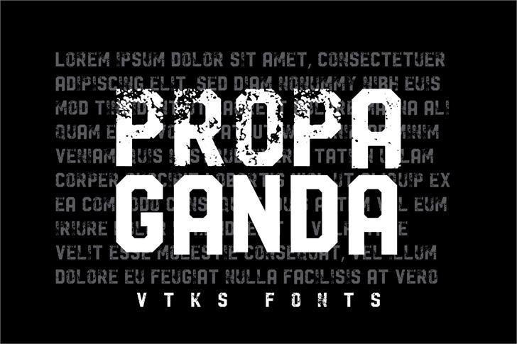 Download Vtks Propaganda font (typeface)