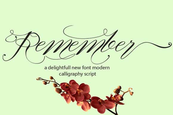 Download Remember font (typeface)