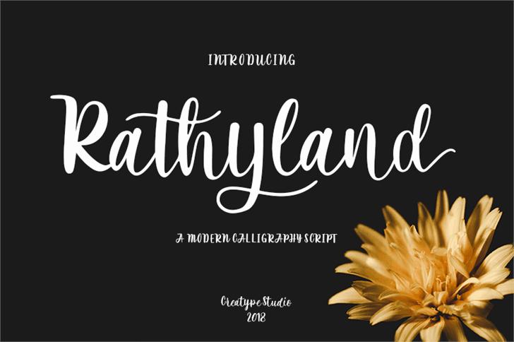 Download Rathyland font (typeface)