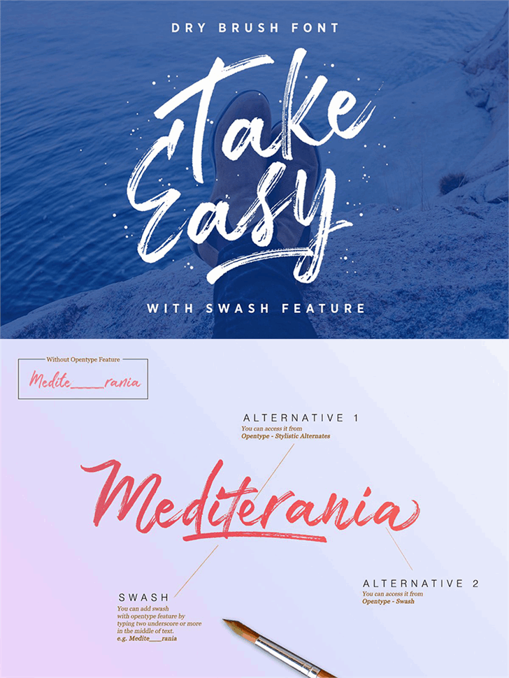 Download Take Easy font (typeface)