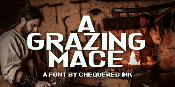 Download A Grazing Mace font (typeface)