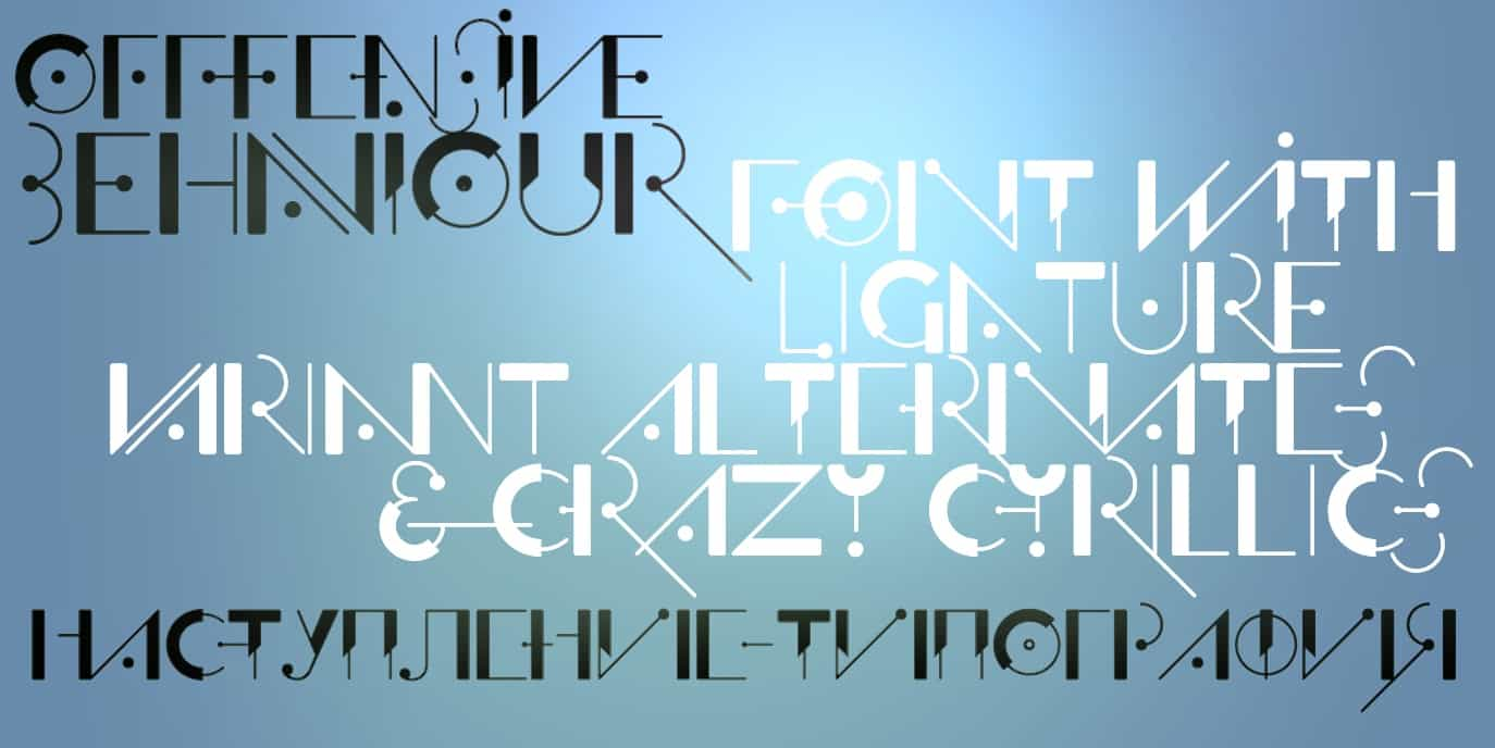 Download Offfensive Behaviour  font (typeface)