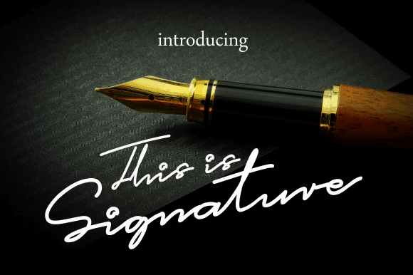 Download This is Signature font (typeface)