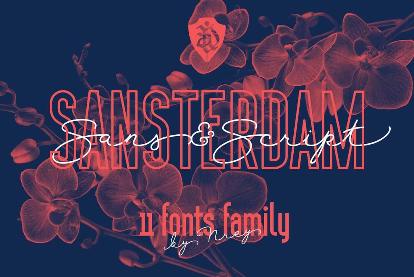 Sansterdam Demo шрифт скачать бесплатно